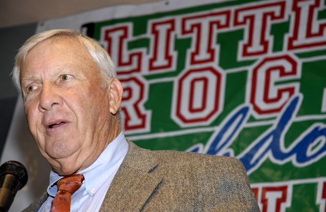 Pat Dye is reportedly asymptomatic, but was still hospitalized. (AP Photo/Mike Wintroath)