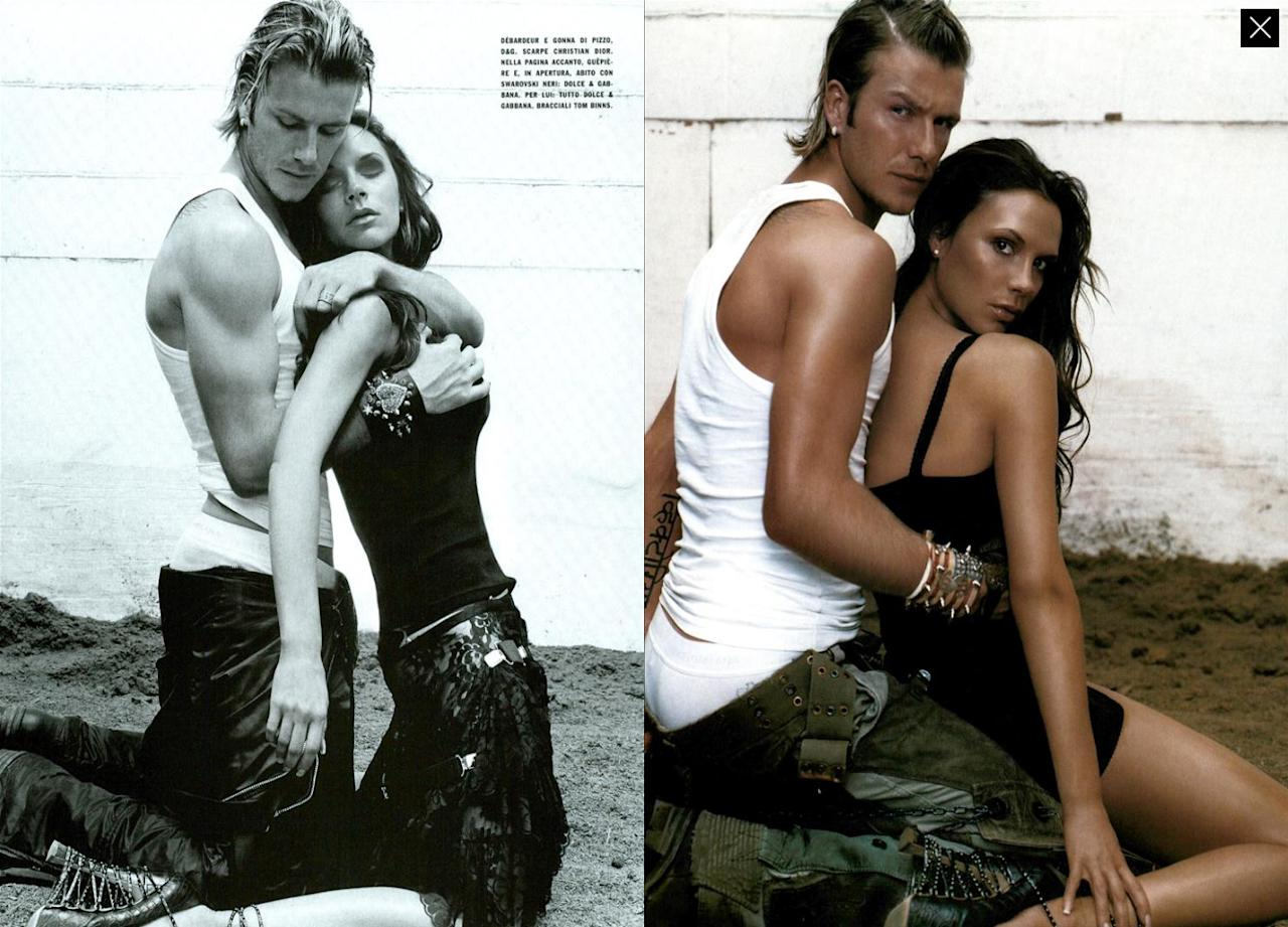 <p>The shoot – titled 'A Unique Couple: The Beckhams' – were taken by famed photographer Steven Klein and featured on the inside pages of the magazine.<br />[Photos: Steven Klein/ Vogue Italia] </p>