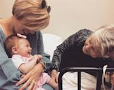 """<p>A family visit is """"so good for everyone,"""" Erin captioned this heartwarming photo. """"All assisted living homes should have nursery schools on site. The way she changes when Helen comes to visit is remarkable. Her dementia disappears, and Helen coos and smiles and laughs.""""</p>"""