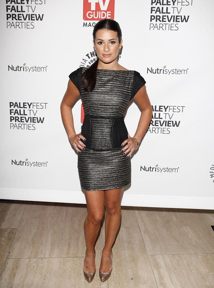 Lea Michele arrives at the Paley Fest's Fall TV Preview Party at The Paley Center for Media on September 9, 2009 in Beverly Hills, California.