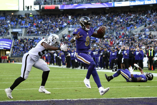 Is the future now? Lamar Jackson has led the Ravens to wins in each of his first two starts; will Baltimore keep him as starter even once Joe Flacco is healthy? (AP)