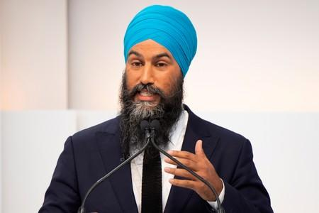 FILE PHOTO: New Democratic Party (NDP) leader Jagmeet Singh speaks during a debate hosted by Macleans/Citytv in Toronto