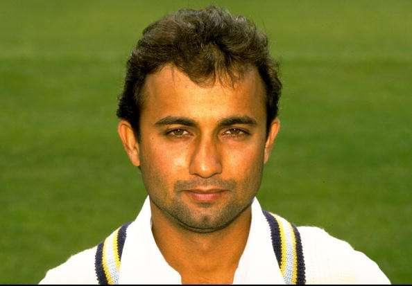 1 May 1996: Portrait of Nayan Mongia of India on tour in England at Lords in London. \ Mandatory Credit: Graham Chadwick /Allsport