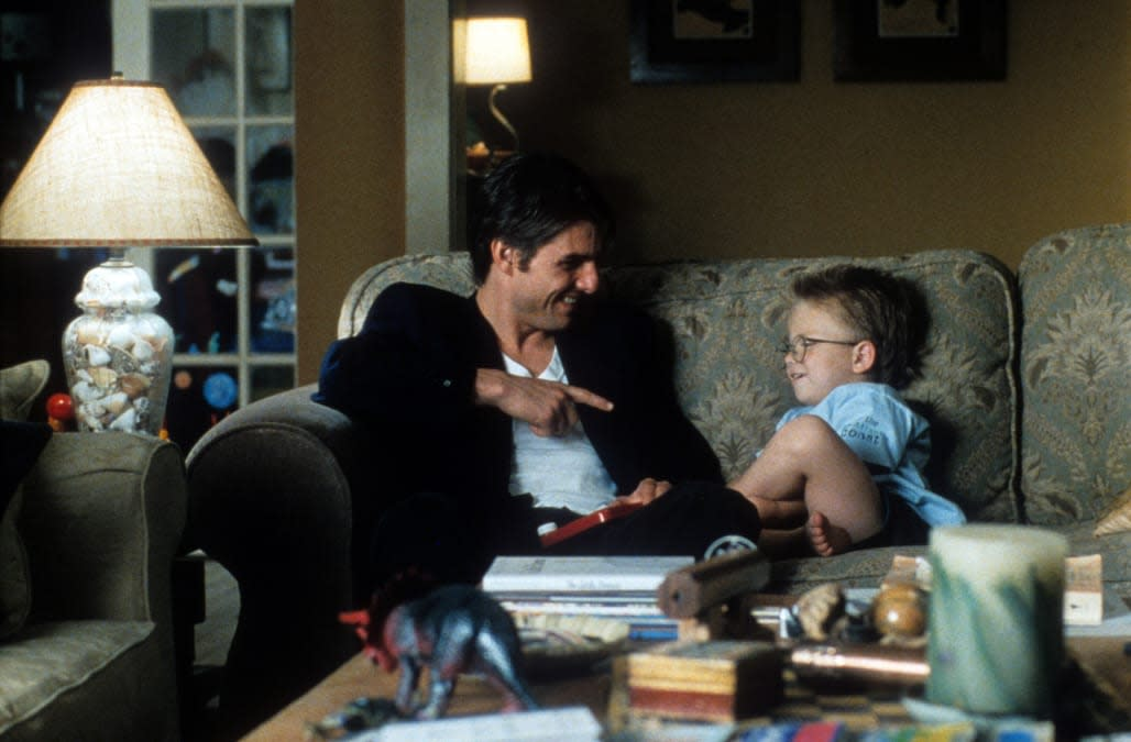 Tom Cruise And Jonathan Lipnicki In 'Jerry Maguire'
