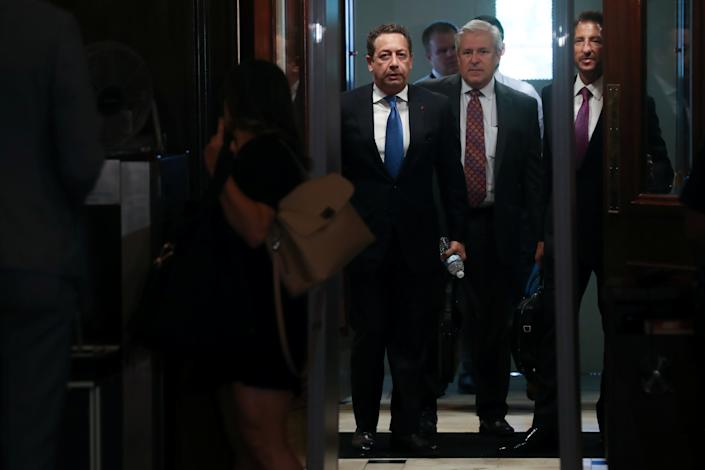 Felix Sater arrives for a closed-door interview with the U.S. House Intelligence Committee last month. (Photo: Jonathan Ernst/Reuters)