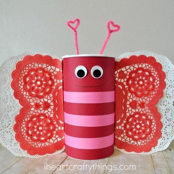"""<p>Cuteness rules with this little butterfly! It's a fun project to make in a hurry from inexpensive craft supplies.</p><p><strong>Get the tutorial at </strong><a href=""""https://iheartcraftythings.com/butterfly-valentines-day-mailbox.html"""" rel=""""nofollow noopener"""" target=""""_blank"""" data-ylk=""""slk:I Heart Crafty Things."""" class=""""link rapid-noclick-resp""""><strong>I Heart Crafty Things. </strong></a></p><p><a class=""""link rapid-noclick-resp"""" href=""""https://www.amazon.com/Large-Red-Heart-Shaped-Doilies/dp/B0072AO8L8/?tag=syn-yahoo-20&ascsubtag=%5Bartid%7C2164.g.35119968%5Bsrc%7Cyahoo-us"""" rel=""""nofollow noopener"""" target=""""_blank"""" data-ylk=""""slk:SHOP HEART DOILIES"""">SHOP HEART DOILIES</a></p>"""