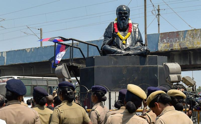 Following the incident, the Tamil Nadu police increased security to the dalit leader statue across the state. Political leaders including Amit Shah, Narendra Modi condemened the act. The BJP worker who was reportedly involved in stoning Periyar's statue has been expelled by the party. PTI