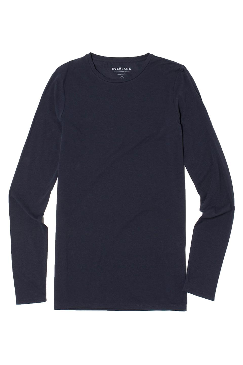 "<p><strong>Everlane</strong></p><p>nordstromrack.com</p><p><strong>$15.97</strong></p><p><a href=""https://go.redirectingat.com?id=74968X1596630&url=https%3A%2F%2Fwww.nordstromrack.com%2Fevents%2F387347%2Fproducts%2F3236205&sref=https%3A%2F%2Fwww.marieclaire.com%2Ffashion%2Fg33474736%2Feverlane-nordstrom-rack-sale%2F"" rel=""nofollow noopener"" target=""_blank"" data-ylk=""slk:SHOP IT"" class=""link rapid-noclick-resp"">SHOP IT</a></p><p><strong><del>$32</del> $15.97 (50% off) </strong></p><p>Soft and flattering. Enough said. </p>"