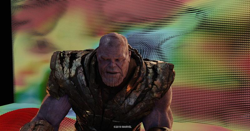 Here's how Thanos looked in Weta Digital's computers before the background was added (Photo: Marvel)