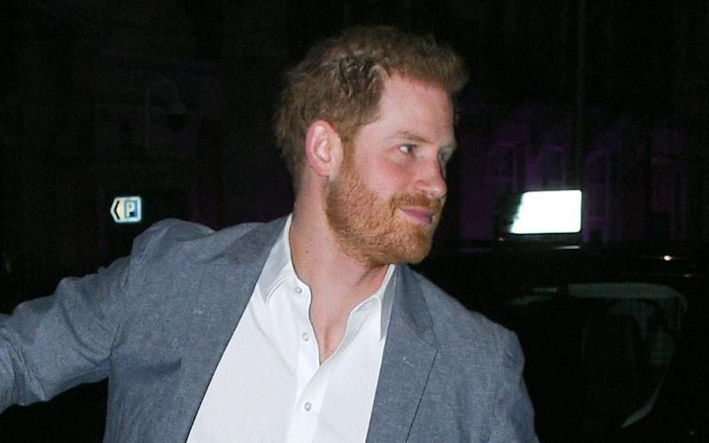 Prince Harry, Duke of Sussex seen arriving at The Ivy Chelsea Garden in London - GC Images