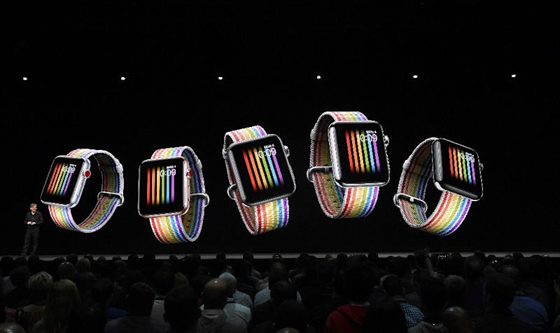 Apple Watch may see a refreshed design at the tech giant's event being held in Cupertino, California (AFP Photo/Josh Edelson)