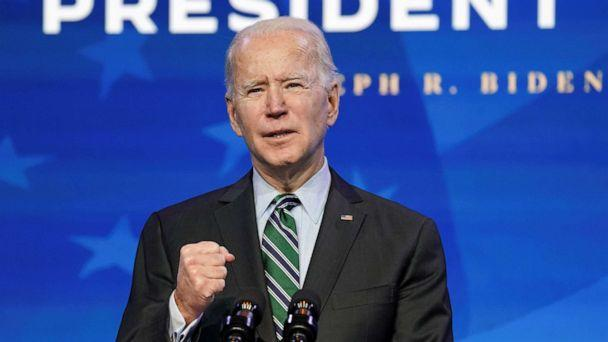 PHOTO: President-elect Joe Biden introduces key members of his White House science team at his transition headquarters in Wilmington, Del., Jan. 16, 2021. (Kevin Lamarque/Reuters, FILE)