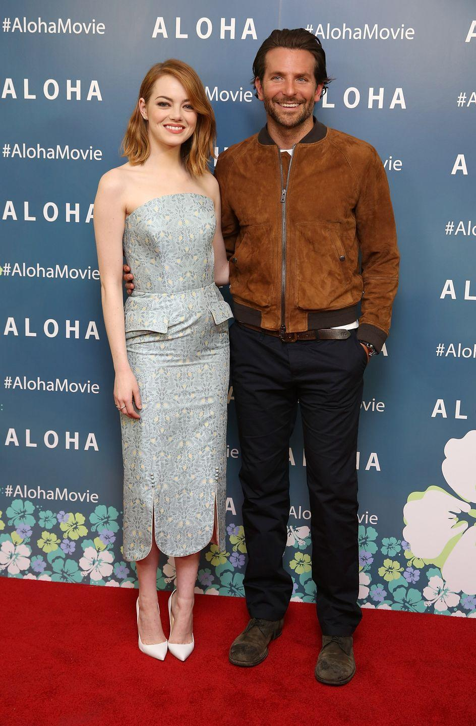 """<p>While they were shooting the movie <em>Aloha</em>, Cooper's lease was up early, so Stone offered to have him as a roommate—well, technically """"<a href=""""http://www.eonline.com/news/660081/that-time-emma-stone-and-bradley-cooper-were-housemates-in-hawaii"""" rel=""""nofollow noopener"""" target=""""_blank"""" data-ylk=""""slk:housemate"""" class=""""link rapid-noclick-resp"""">housemate</a>,"""" according to Cooper.</p>"""