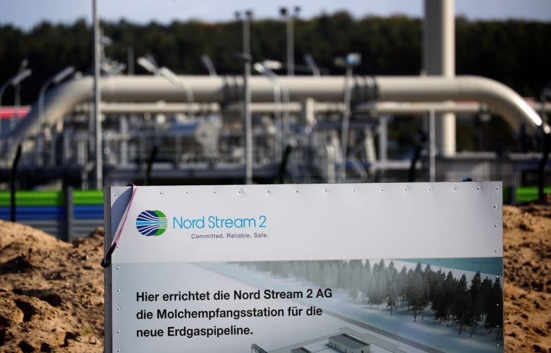 Nord Stream 2 land fall facility in Lubmin