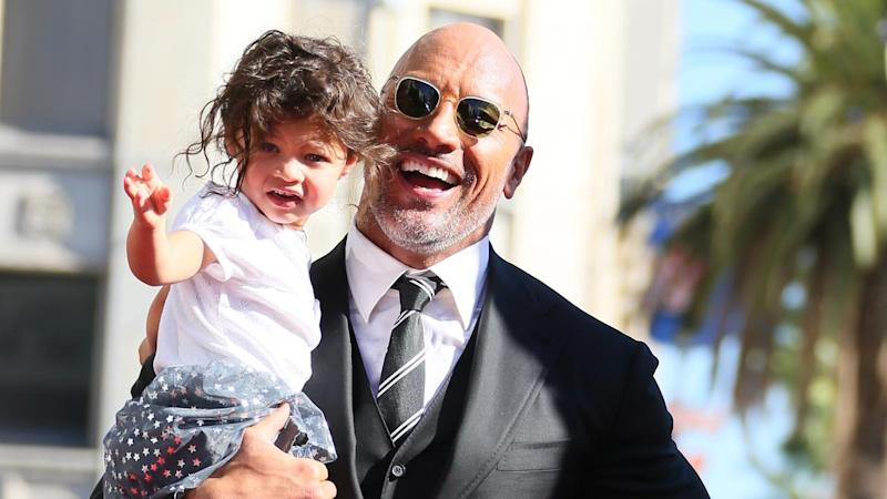 Dwayne Johnson's Adorable Daughter Jasmine Steals the Show at His Hollywood Walk of Fame Ceremony
