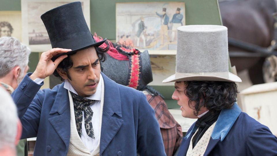 Mandatory Credit: Photo by Geoff Robinson Photography/Shutterstock (9767433n)Dev Patel and Aneurin Barnard'The Personal History of David Copperfield' on set filming, King's Lynn, Norfolk, UK - 20 Jul 2018Actor Dev Patel was spotted about to get in a fight with a local market trader as he played David Copperfield in a new costume drama yesterday (Fri).