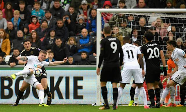 Alfie Mawson's goal – one of the only positives in Swansea's defeat to Leicester