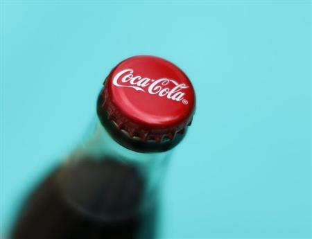 A bottle of Coca-Cola is shown in this photo illustration in Encinitas, California