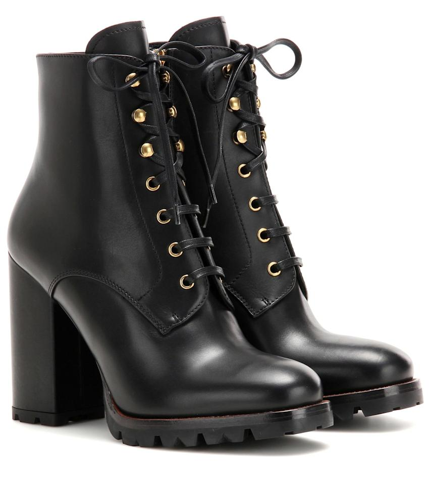 "<p>""I swear by a platform boot—it feels almost like a flat but lends height. And a lug sole makes these basically a snow boot.""</p><p><strong>Prada</strong> boots, $1,100, <a rel=""nofollow"" href=""http://www.mytheresa.com/en-us/leather-ankle-boots-659288.html?catref=category"">mytheresa.com</a>.</p>"