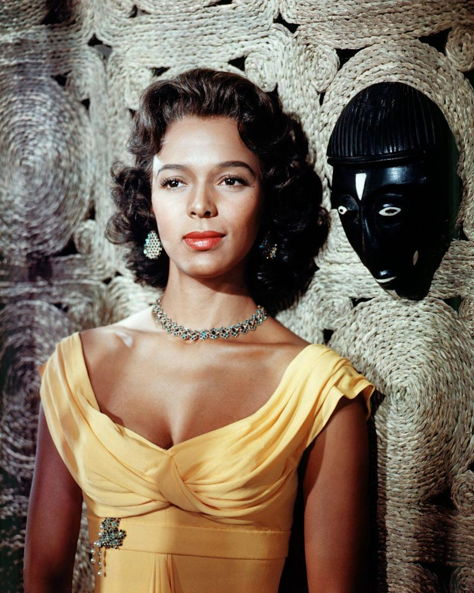 <p>Known for rejecting stereotypical Black roles and fighting for her rights to equality, Dorothy Dandridge is a cinematic legend. A Hollywood star, Dandridge was nominated for several awards throughout her career, but her graceful and glamorous style always took center stage.</p>