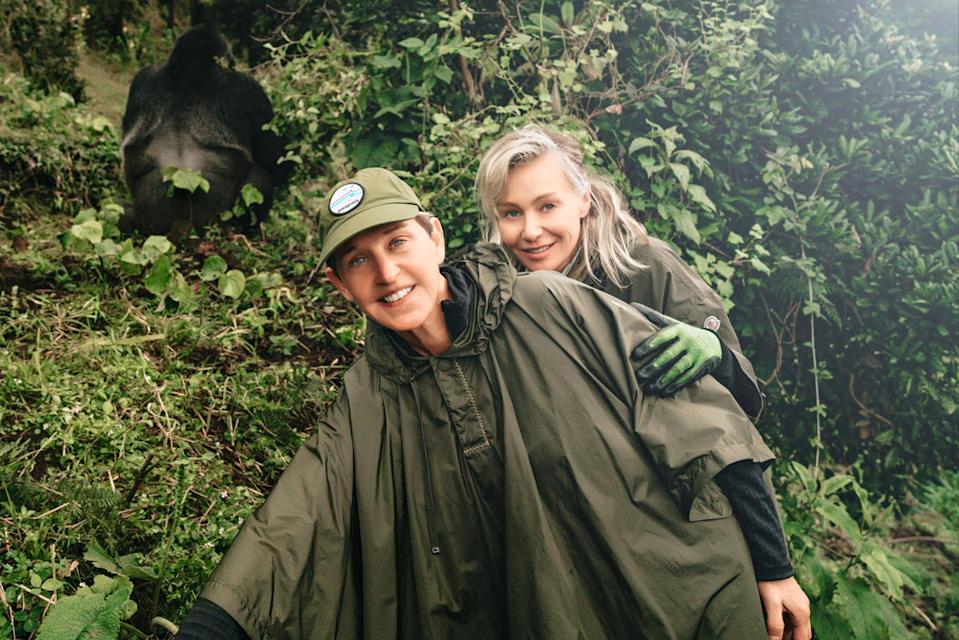 "<p>For DeGeneres' 60th birthday, her wife launched the <a href=""https://theellenfund.org/"" rel=""nofollow noopener"" target=""_blank"" data-ylk=""slk:Ellen Fund"" class=""link rapid-noclick-resp"">Ellen Fund</a>, which in part works to save mountain gorillas in Rwanda. ""People may not realize that gorillas actually help save our planet every day. Just by existing, they help maintain the second-largest forest on earth, which keeps the air clean and helps fight climate change,"" de Rossi told PEOPLE in 2020. ""We absolutely need them.""</p>"