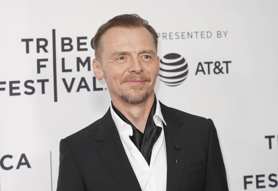 """Photo by: zz/John Nacion/STAR MAX/IPx 2019 4/28/19 Simon Pegg at the premiere of """"Lost Transmissions"""" during the 2019 Tribeca Film Festival in New York City. (NYC)"""