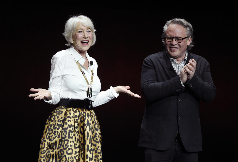 Helen Mirren with director Bill Condon (Credit: Chris Pizzello/Invision/AP)