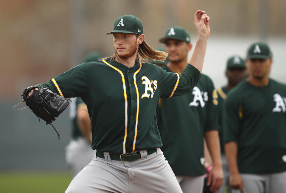 A.J. Puk's highly anticipated MLB debut with the Oakland A's will have to wait after he undergoes Tommy John surgery. (AP)