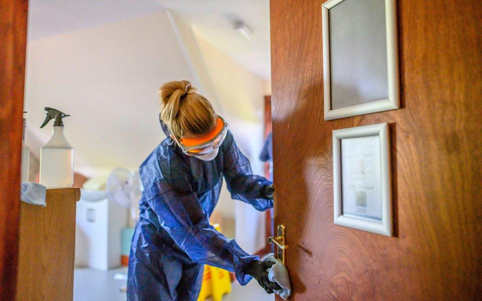 Cleaning company Swish are going into the Edgemont View Nursing Home which has suffered with multiple Covid-19 deaths, for free for a specialist decontamination to help staff and residents in the prevention of further spread of the virus within the care home Edgemont View Nursing Home in Oldland Common - Paul Grover/Paul Grover