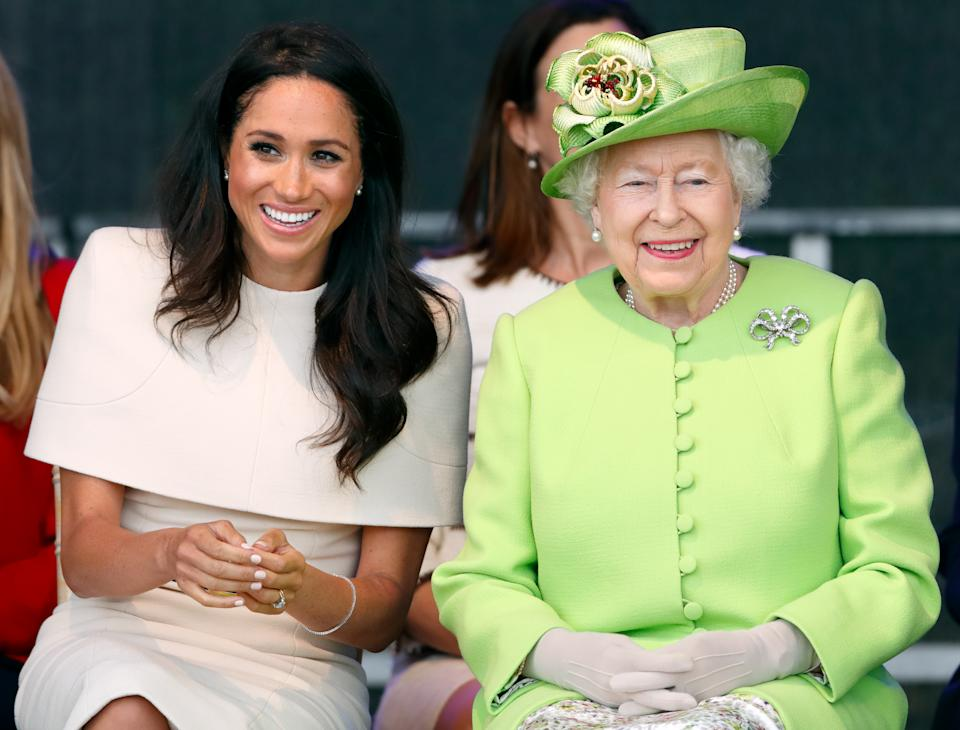 Meghan Markle and the Queen in Chester