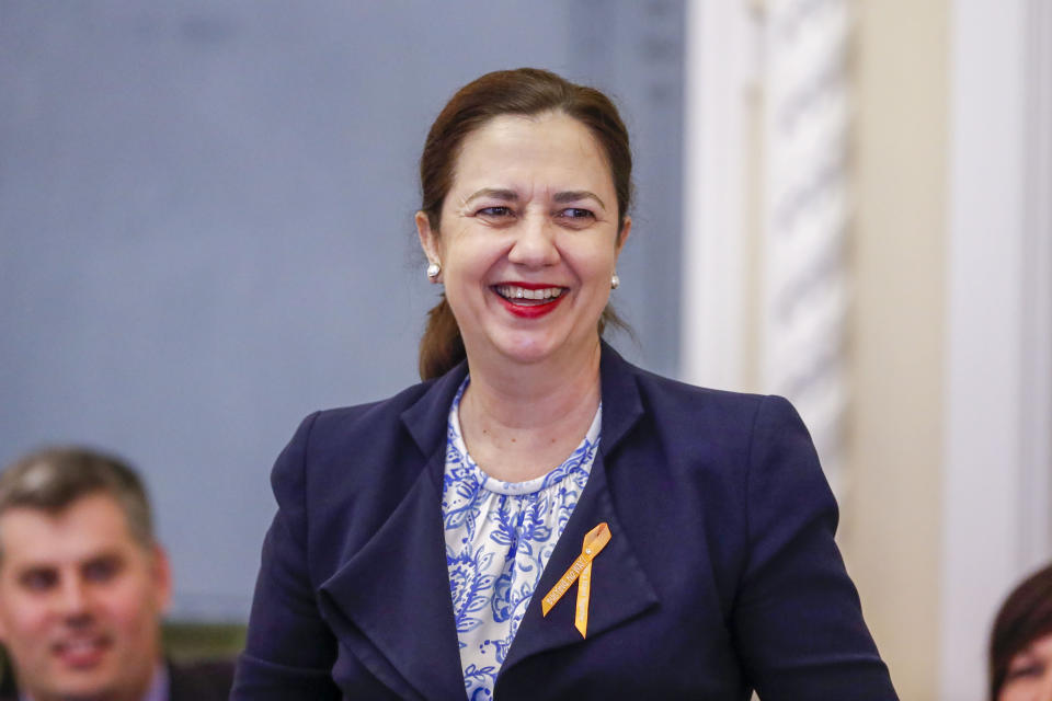 Annastacia Palaszczuk was the first woman elected as premier in Queensland. Source: AAP