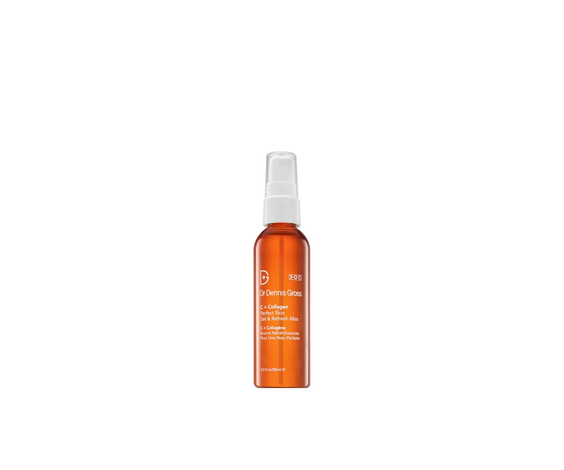 "<p>Face feeling parched come 3 P.M.? Refresh your complexion with a few quick hits of this antioxidant-packed mist. Its sweet but citrus-y scent will brighten your face — and your mood.</p><p>$30 (<a rel=""nofollow"" href=""http://www.sephora.com/c-collagen-perfect-skin-set-refresh-mist-P411361?mbid=synd_yahoobeauty"">sephora.com</a>)</p>"
