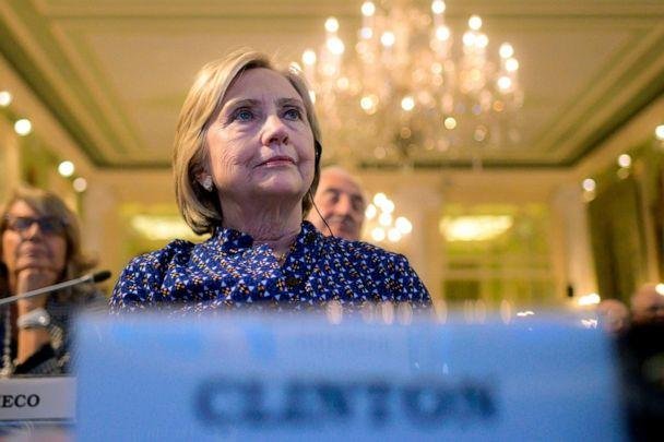 PHOTO: Former Secretary of State Hillary Clinton attends the annual 'European House Ambrosetti' forum on economy, Sept. 6, 2019, at Villa D'Este in Cernobbio, Italy. (Marco Bertorello/AFP/Getty Images)