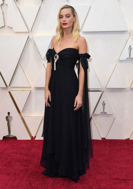 PHOTO: Margot Robbie arrives at the Oscars, Feb. 9, 2020, in Hollywood, Calif. (Richard Shotwell/Invision/AP)