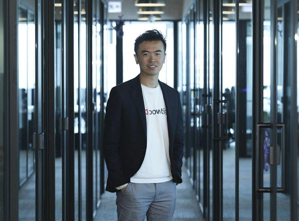 Fred Ngan Yiu-fai, co-founder and co-CEO of online insurer Bowtie Life Insurance, says virtual insurers can help promote the uptake of life insurance products. Photo: Roy Issa