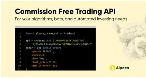 fintech startup alpaca unveils world s first commission free api