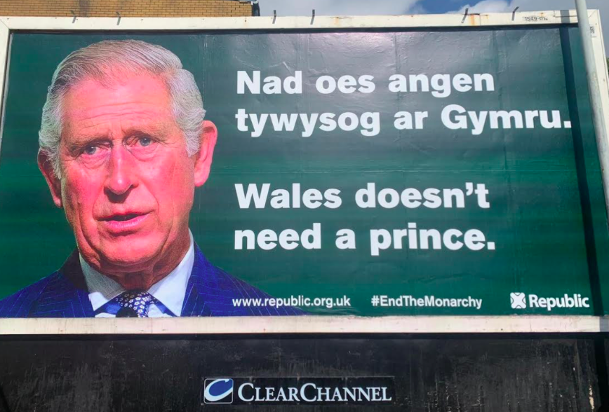Anti-monarchy billboards have been spotted across Wales. (Reach)