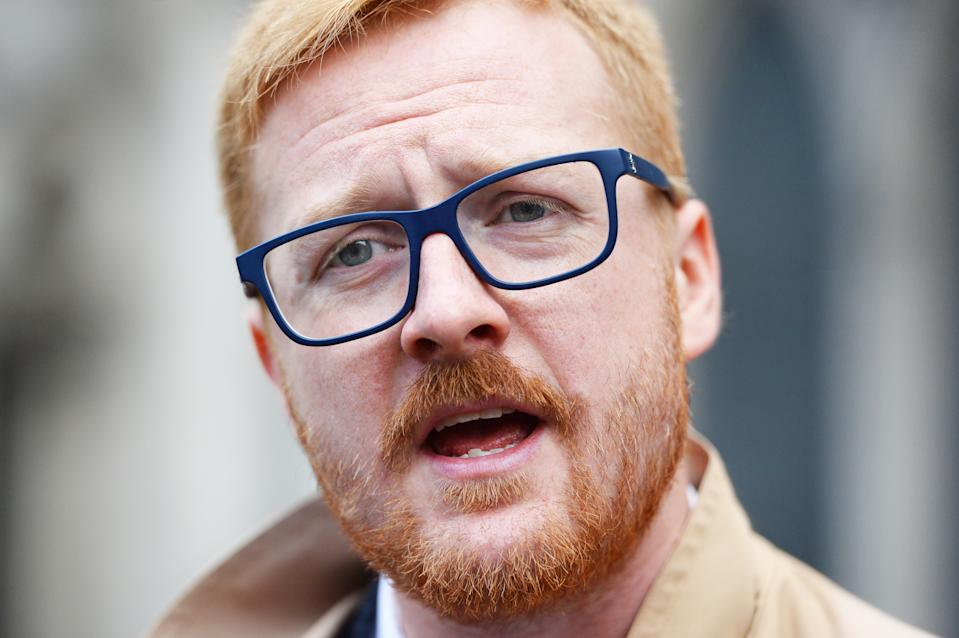 Labour MP LLoyd Russell-Moyle outside the Royal Courts of Justice, London, where protesters are celebrating after winning a landmark legal challenge at the Court of Appeal over the Government's decision to continue to allow arms sales to Saudi Arabia. (Photo by Kirsty O'Connor/PA Images via Getty Images)