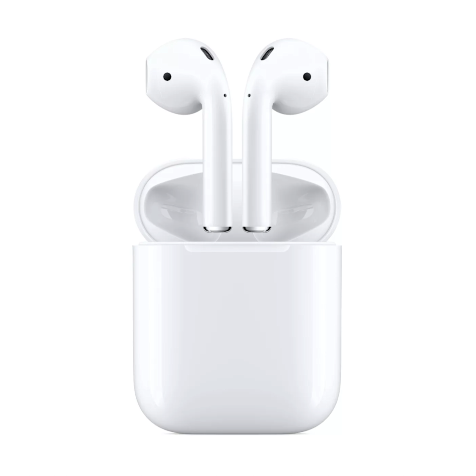 """<strong><h2><a href=""""https://www.target.com/p/apple-airpods-with-charging-case/-/A-54191097"""" rel=""""nofollow noopener"""" target=""""_blank"""" data-ylk=""""slk:Apple"""" class=""""link rapid-noclick-resp"""">Apple</a></h2></strong><br><strong>Dates: Now - September 7</strong><br>Apple is definitely one of the most satisfying places to score a deal, considering its slim sale section and pricey items. That's why we were elated to see that tons of retailers like <a href=""""https://www.amazon.com/Apple-AirPods-Charging-Latest-Model/dp/B07PXGQC1Q"""" rel=""""nofollow noopener"""" target=""""_blank"""" data-ylk=""""slk:Amazon"""" class=""""link rapid-noclick-resp""""><strong>Amazon</strong></a>, <a href=""""https://www.costco.com/Apple+AirPods+Wireless+Headphones+with+Charging+Case+(Latest+Model).product.100487204.html"""" rel=""""nofollow noopener"""" target=""""_blank"""" data-ylk=""""slk:Costco,"""" class=""""link rapid-noclick-resp""""><strong>Costco</strong>,</a> and <strong><a href=""""https://www.bhphotovideo.com/c/product/1469202-REG/apple_mv7n2am_a_airpods_with_charging_case.html/?ap=y&ap=y&smp=y&smp=y&lsft=BI%3A514&gclid=CjwKCAjwkJj6BRA-EiwA0ZVPVgfRjlOZGOvfiQKRks3uE45x9bj6Iv8YILi3_bsk-KyZCxBkl2RFIBoCqPwQAvD_BwE"""" rel=""""nofollow noopener"""" target=""""_blank"""" data-ylk=""""slk:B&H"""" class=""""link rapid-noclick-resp"""">B&H</a></strong> are offering $20 off the coveted Apple AirPods.<br><br><strong>Apple</strong> Apple AirPods with Charging Case, $, available at <a href=""""https://go.skimresources.com/?id=30283X879131&url=https%3A%2F%2Fwww.target.com%2Fp%2Fapple-airpods-with-charging-case%2F-%2FA-54191097"""" rel=""""nofollow noopener"""" target=""""_blank"""" data-ylk=""""slk:Target"""" class=""""link rapid-noclick-resp"""">Target</a>"""