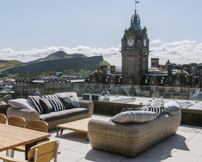 The view from the penthouse at the Edinburgh Grand (Edinburgh Grand)