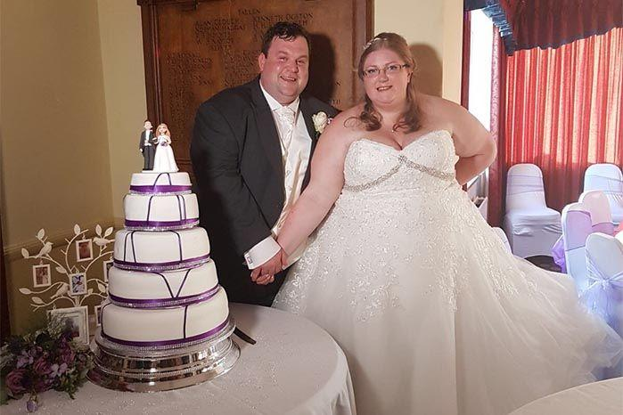 Victoria Ross, 32, was with husband Brian when she was nipped on the right leg by a violin spider. Source: SWNS