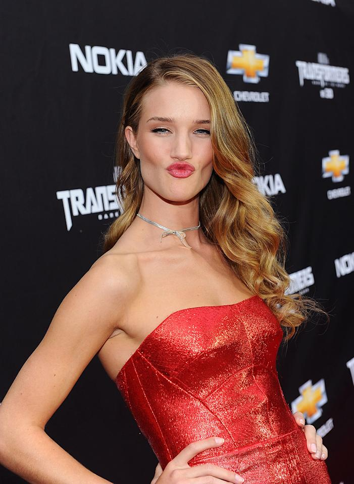 """<a href=""""http://movies.yahoo.com/movie/contributor/1810161759"""">Rosie Huntington-Whiteley</a> at the New York City premiere of <a href=""""http://movies.yahoo.com/movie/1810159115/info"""">Transformers: Dark of the Moon</a> on June 28, 2011."""