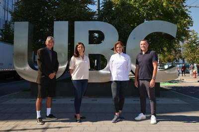 Rickey Yada, Dean, Faculty of Land and Food Systems, UBC; Tamara Cohen, Director of Dietetics, UBC; Felicity Curin, Founder, President & COO, Little Kitchen Academy; Brian Curin, CEO and Co-Founder, Little Kitchen Academy (CNW Group/Little Kitchen Academy Ltd.)