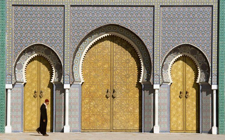 <p>As this is still an active royal residence for the King of Morocco, guests are not permitted within the grounds, but the mysterious palace still manages to leave locals and tourist stunned with its seven imposing front gates. Built in the 1960s, the colorful brass doorways with intricate tilework and carved cedar wood showcase the craftsmanship of Moroccan design. </p>
