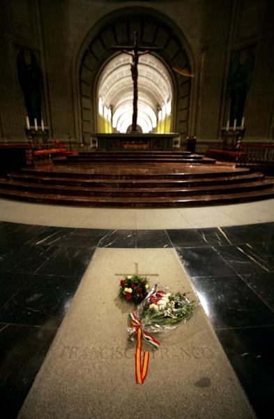 Franco governed Spain with an iron fist from the end of the country's 1936-39 civil war until his death in 1975, when he was buried inside a basilica drilled into the side of a mountain at the Valley of the Fallen (AFP Photo/Philippe DESMAZES)