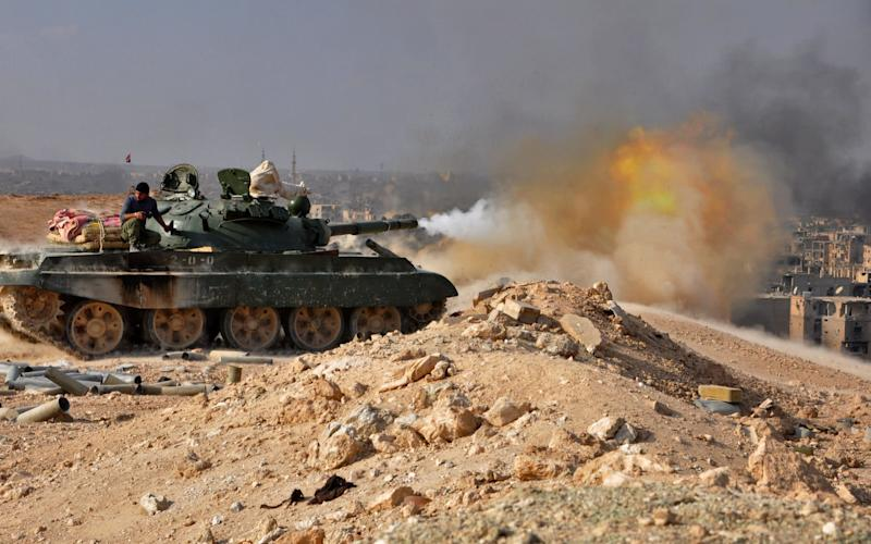 The coalition said it struck regime troops in self defense after they attacked Western-backed Syrian rebels in eastern Syria - AFP