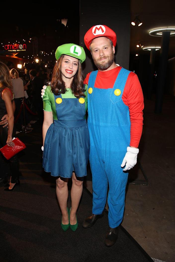 """<p>Nintendo fans will certainly appreciate these Mario and Luigi costumes, which only require red and green t-shirts, matching hats, and two pairs of overalls.</p><p><a class=""""link rapid-noclick-resp"""" href=""""https://www.amazon.com/luvamia-Womens-Juniors-Overall-Pinafore/dp/B07N78DGFP?tag=syn-yahoo-20&ascsubtag=%5Bartid%7C10070.g.1923%5Bsrc%7Cyahoo-us"""" rel=""""nofollow noopener"""" target=""""_blank"""" data-ylk=""""slk:SHOP OVERALL JUMPER"""">SHOP OVERALL JUMPER</a></p><p><a class=""""link rapid-noclick-resp"""" href=""""https://www.amazon.com/Boyland-Overall-Cotton-Relaxed-X-Large/dp/B08PYSMP67?tag=syn-yahoo-20&ascsubtag=%5Bartid%7C10070.g.1923%5Bsrc%7Cyahoo-us"""" rel=""""nofollow noopener"""" target=""""_blank"""" data-ylk=""""slk:SHOP OVERALLS"""">SHOP OVERALLS</a></p>"""