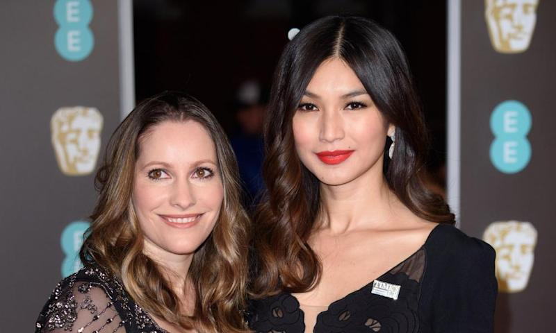 Laura Bates and Gemma Chan at Sunday's Baftas ceremony