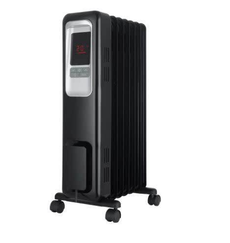 <a href=&quot;https://fave.co/3crKc3Y&quot; target=&quot;_blank&quot; rel=&quot;noopener noreferrer&quot;>This electric space heater</a> has three&nbsp;heat settings, a safety tip-over switch, overheat protection and a remote control. It has a 4-star ratings and more than 150 reviews. Find it for $75 at <a href=&quot;https://fave.co/3crKc3Y&quot; target=&quot;_blank&quot; rel=&quot;noopener noreferrer&quot;>The Home Depot</a>.
