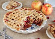 """<p>Cranberries give this classic a bright flavor, color, and freshness.</p><p>Get the recipe from <a href=""""https://www.delish.com/cooking/recipe-ideas/recipes/a44663/cranberry-apple-pie-recipe/"""" rel=""""nofollow noopener"""" target=""""_blank"""" data-ylk=""""slk:Delish"""" class=""""link rapid-noclick-resp"""">Delish</a>.</p>"""
